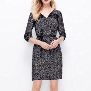 Ann Taylor Black & White Dress Size Large